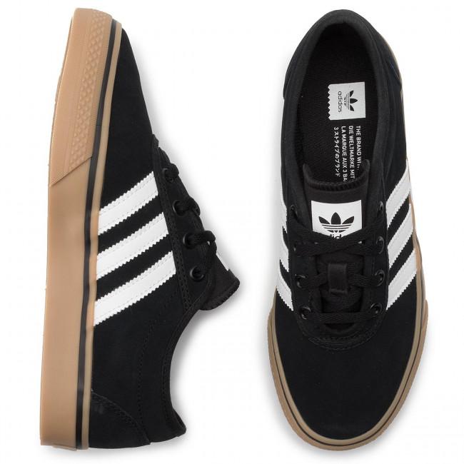 pasos etc. Mesa final  Shoes adidas - adi-Ease EE6107 Cblack/Ftwwht/Gum4 - Sneakers - Low shoes -  Women's shoes   efootwear.eu