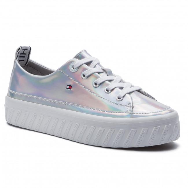 28aaa670 Sneakers TOMMY HILFIGER - Iridescent Flatform Sneaker FW0FW04142 ...