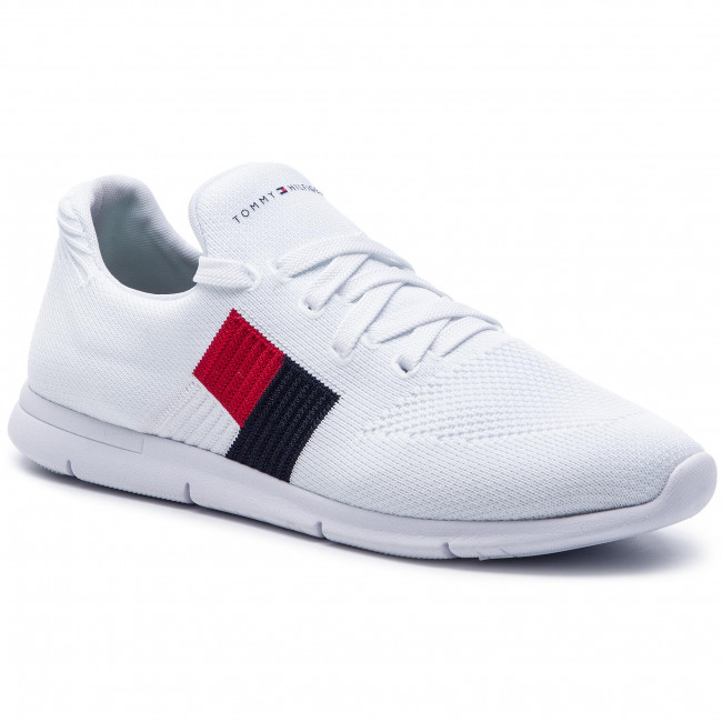 86e13f098 Sneakers TOMMY HILFIGER - Knitted Flag Light Sneaker FW0FW04144 ...