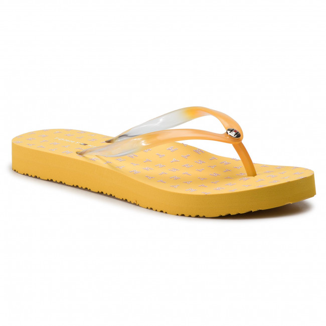 08372b983 Slides TOMMY HILFIGER - Colorful Tommy Flat Beach Sandal FW0FW04240 Spectra  Yellow 730