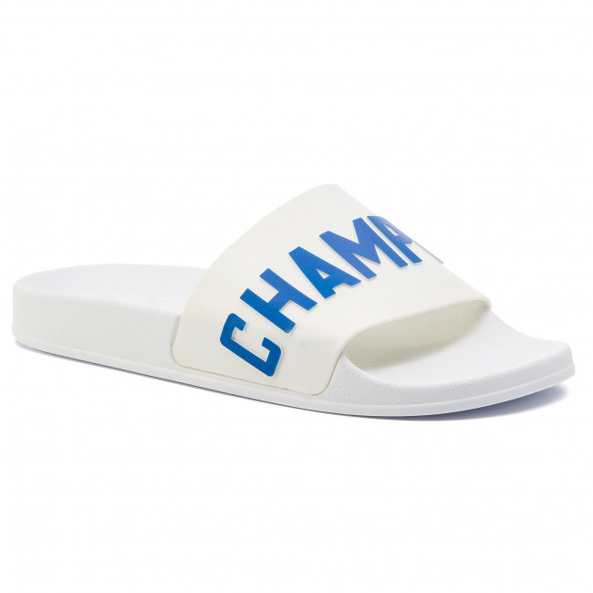 b0840a115f19 Slides CHAMPION - Varsity S20977-S19-WW006 Wht Blu - Clogs and mules ...