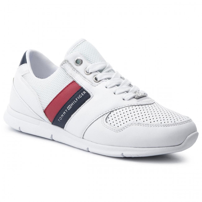 02be8128ede Sneakers TOMMY HILFIGER - Lightweight Leather Sneaker FW0FW04261 Rwb ...