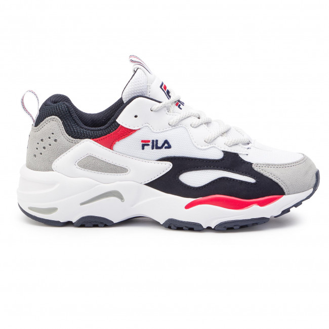 White/Fila Navy/Fila Red - Sneakers