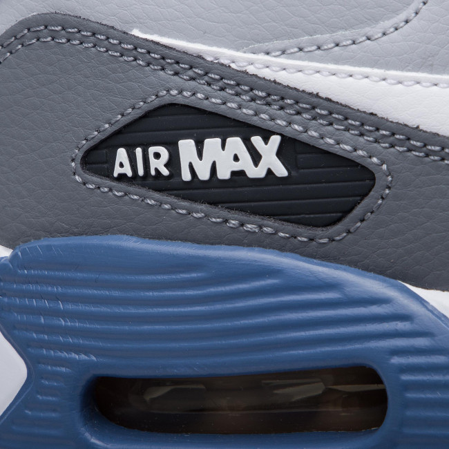 Shoes NIKE Air Max 90Ltr (GS) 833412 026 Wolf GreyWhiteIndigo Storm