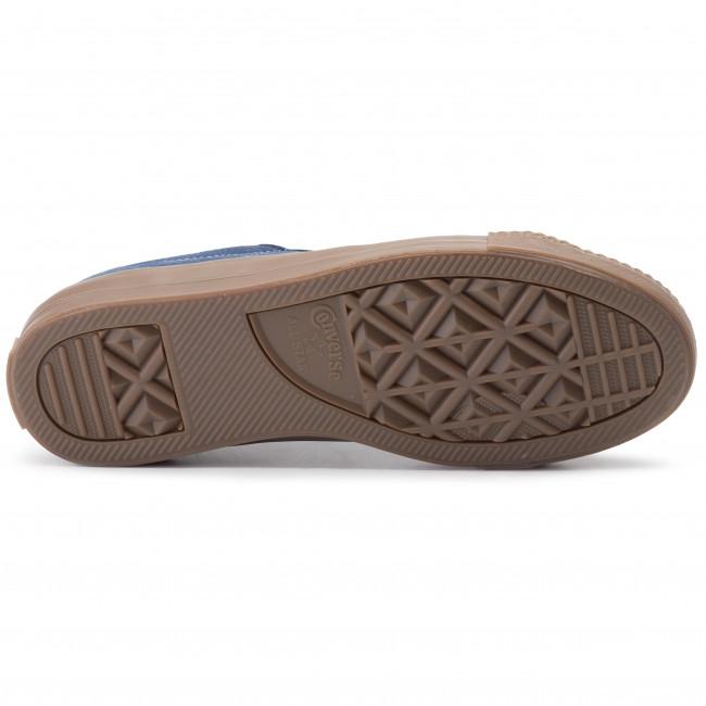 Converse One Star Pro Ox Shoes Navy Indigo Fog Brown