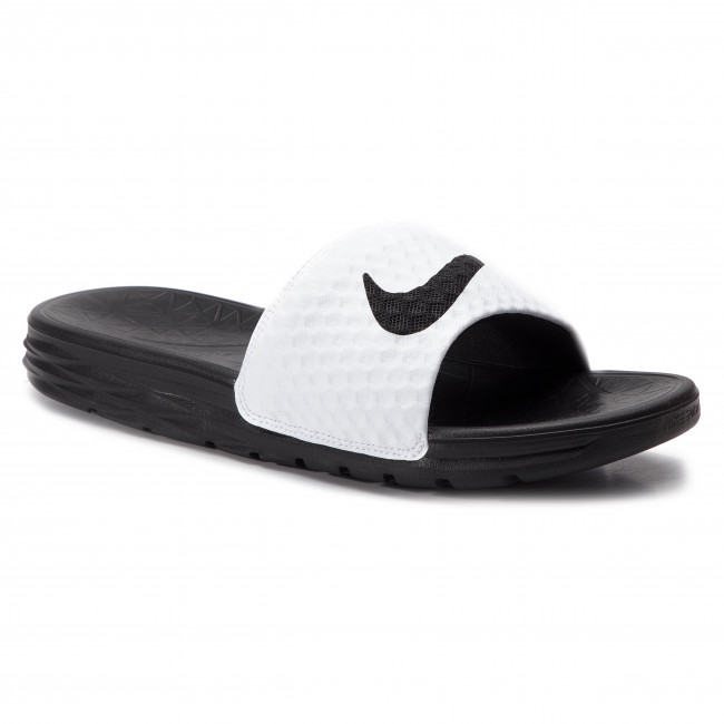 449f6872d Slides NIKE - Benassi Solarsoft 705474 100 White Black - Clogs and ...