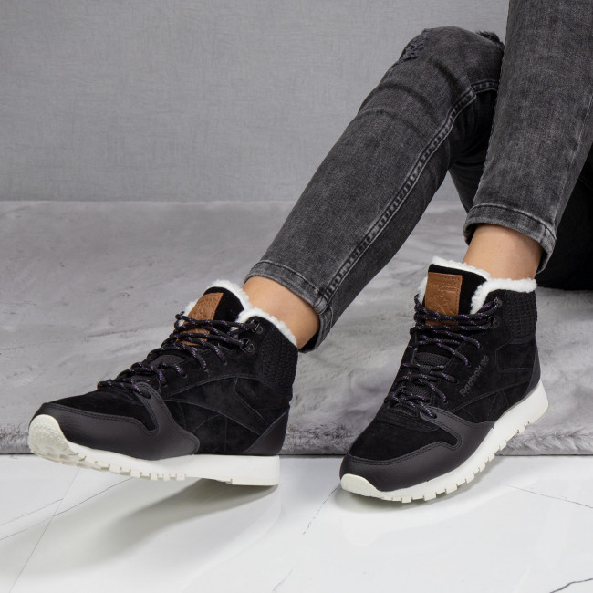 Reebok Classic Leather Arctic Boot Black Purple Chalk | Footshop