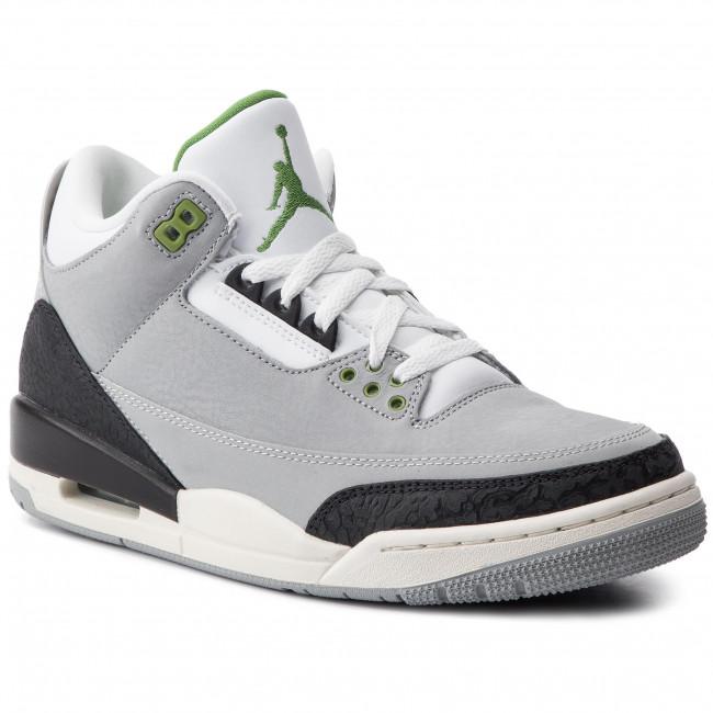 cad0540cc08ad8 Shoes NIKE - Air Jordan 3 Retro 136064 006 Lt Smoke Grey Chlorophyll ...