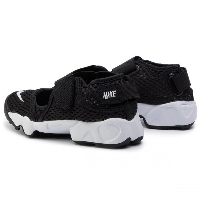 GS//PS Girls Black White Trainers - 322359 014 Juniors Nike Rift