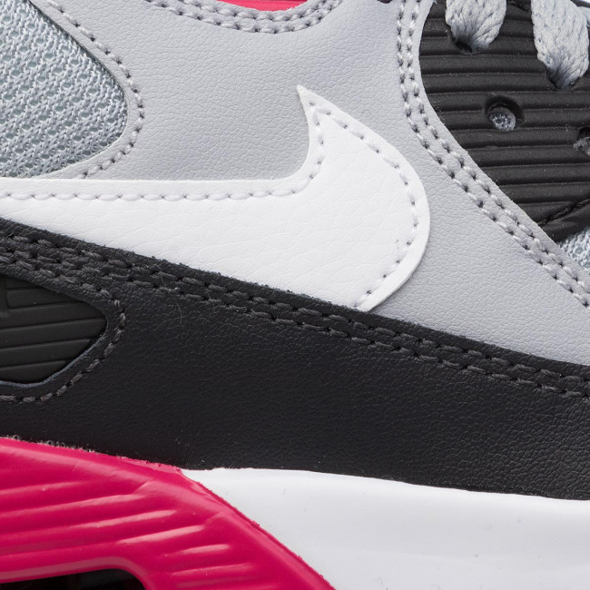Shoes NIKE Air Max 90 Mesh (Gs) 833418 027 Wolf GreyWhite RushPink Volt
