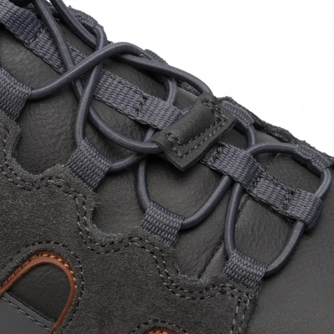 Shoes GEOX U Snake A U8407A 022ME C9A7L AnthraciteDk Orange