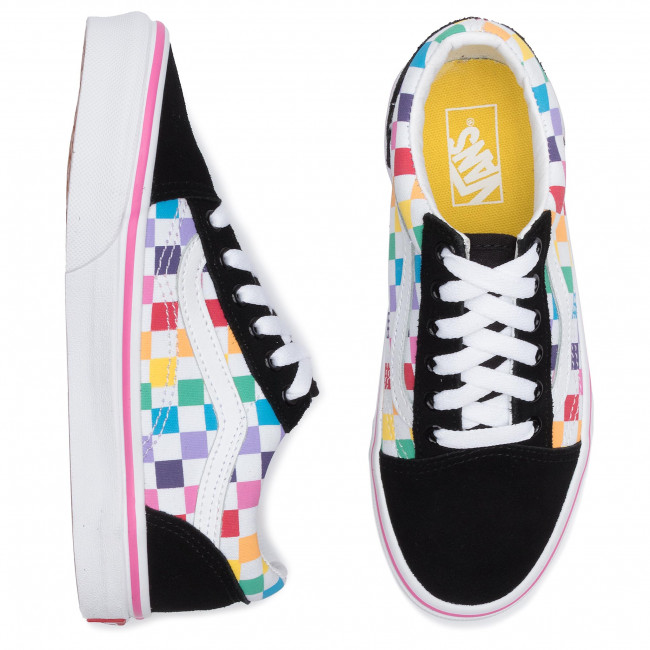 Classic Vans Old Skool Skate Colorful Rainbow Sole Black
