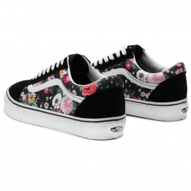 Garden Floral)Blk/Tr Wht - Sneakers