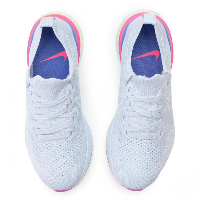 d68d4354 Shoes NIKE - Epic React Flyknit 2 BQ8927 453 Hydrogen Blue/Hydrogen Blue -  Indoor - Running shoes - Sports shoes - Women's shoes - www.efootwear.eu