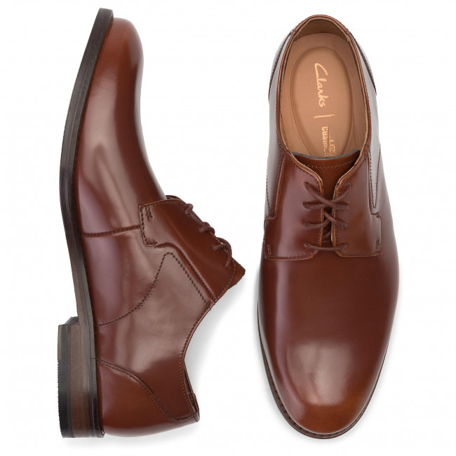 Shoes CLARKS Edward Plain 261395367 British Tan Leather
