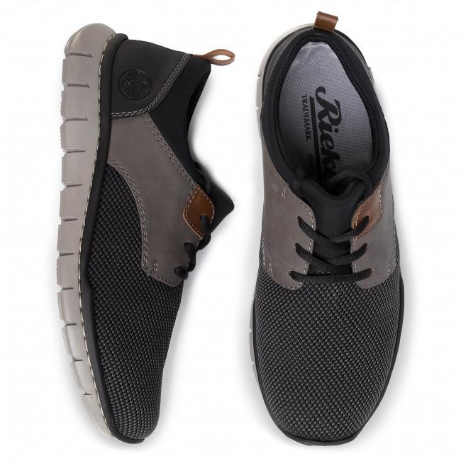 Sneakers RIEKER B8764 43 Grau Kombi Sneakers Low shoes wyHZ4
