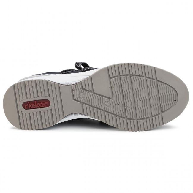 Rieker Damen Sneaker blau N4393 14