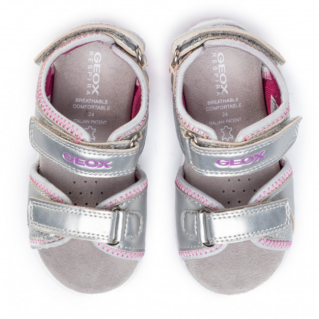 Sandalen GEOX B S.Cuore A B0290A 0AJ15 C0162 S SilverFuchsia