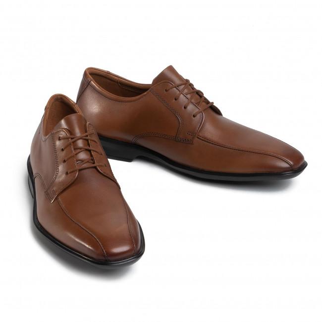 Shoes CLARKS Bensley Bun 261496157 Dark Tan Leather
