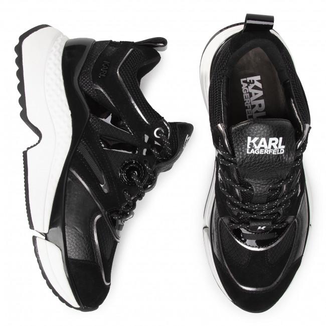 Sneakers KARL LAGERFELD KL62631 Heavy Glitter Silver