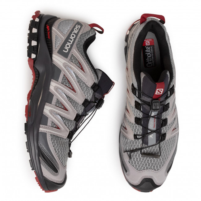 Shoes SALOMON Xa Pro 3D 409774 35 V0 MonumentEbonyRed Dahlia