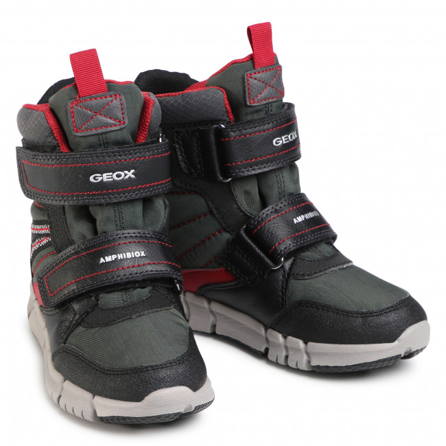 Snow Boots GEOXJ Flexyper B Abx A J049XA 0FUFE C0260 S BlackDk Red