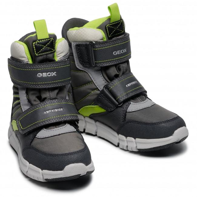 Snow Boots GEOXJ Flexyper B Abx A J049XA 0FUFE C0666 S GreyLime