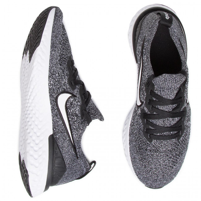 Shoes NIKE Epic Raect Flyknit 2 (GS) AQ3243 001 BlackWhiteWhite