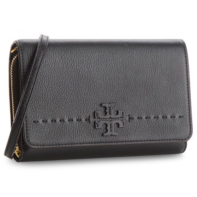42a905aeac8de4 Handbag TORY BURCH - Mcgraw Flat Wallet Cross-Body 41848 Black 001 ...