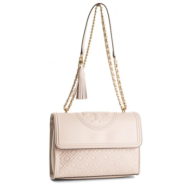 62aac44102f0 Handbag TORY BURCH. Fleming Convertible Shoulder Bag 43833 Shell Pink 652