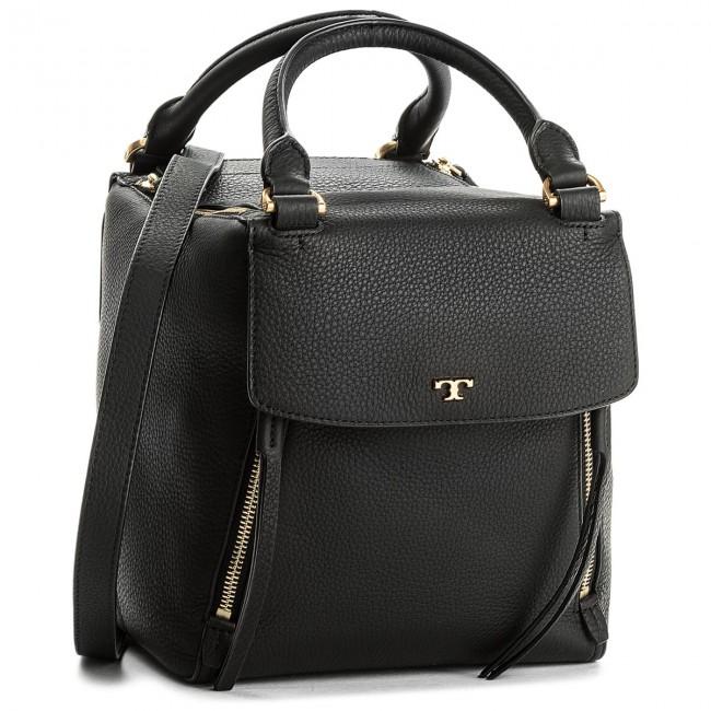29ba6c2a3c10b Handbag TORY BURCH - Half-Moon Satchel 45398 Black 001 - Classic ...