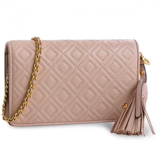 c3d6fdd5285a Handbag TORY BURCH - Fleming Flat Wallet Cross-Body 46449 Shell Pink ...