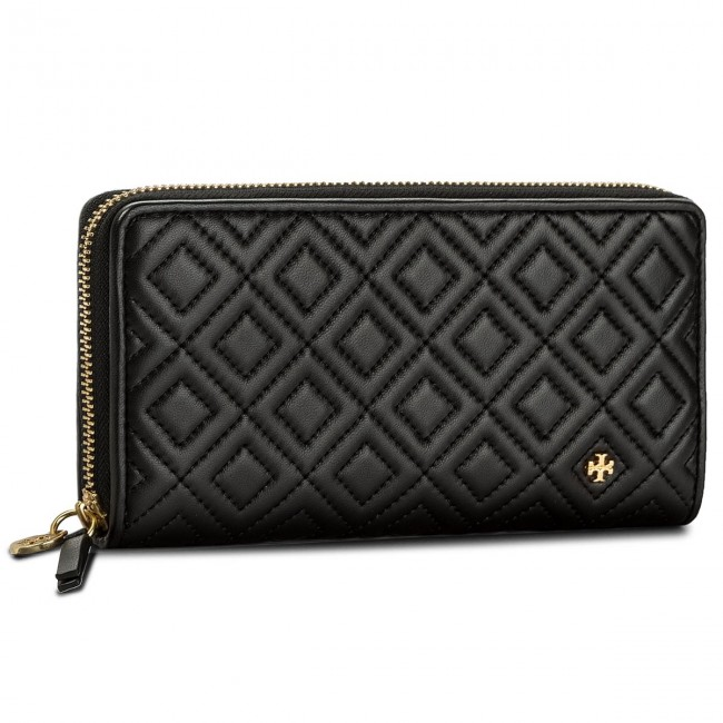 13472f6804e4 Large Women s Wallet TORY BURCH. Fleming Zip Continental Wallet 46542 Black  001