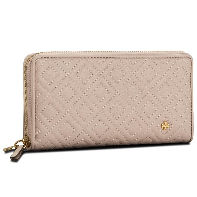 8d21677e1fe2 Large Women s Wallet TORY BURCH - Fleming Zip Continental Wallet 46542  Shell Pink 652