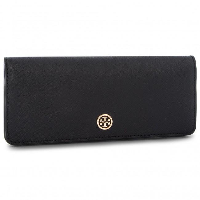 f5d9150f6f27f Large Women s Wallet TORY BURCH - Robinson Slim Wallet 48467 Black Royal  Navy 018