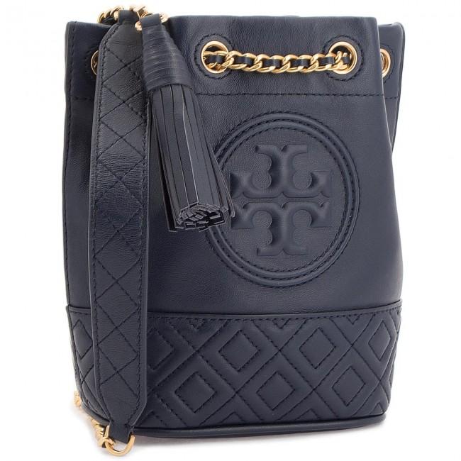 0afe1373afe4 Handbag TORY BURCH - Fleming Mini Bucket Bag 49321 Royal Navy 403 ...