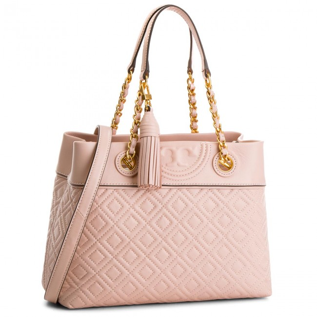 9f99264331c Handbag TORY BURCH - Fleming Small Tote 48892 Shell Pink 652 ...