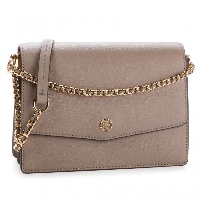 a2609a45f6f Handbag TORY BURCH - Robinson Convertible Shoulder Bag 46333 Grey ...