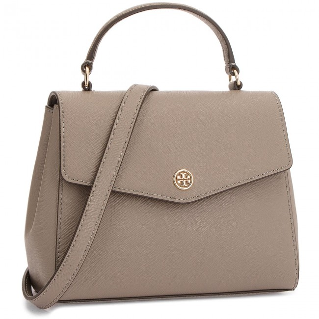 17b61a449f11 Handbag TORY BURCH - Robinson Small Top-Handle Satchel 49686 Grey Heron 082