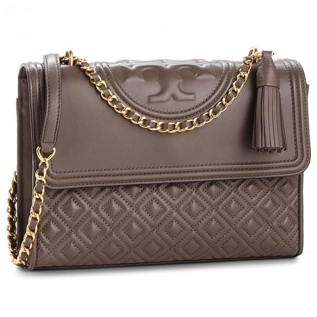 b31435ec3c5 Handbag TORY BURCH - Fleming Convertible Shoulder Bag 43833 Silver Maple 963