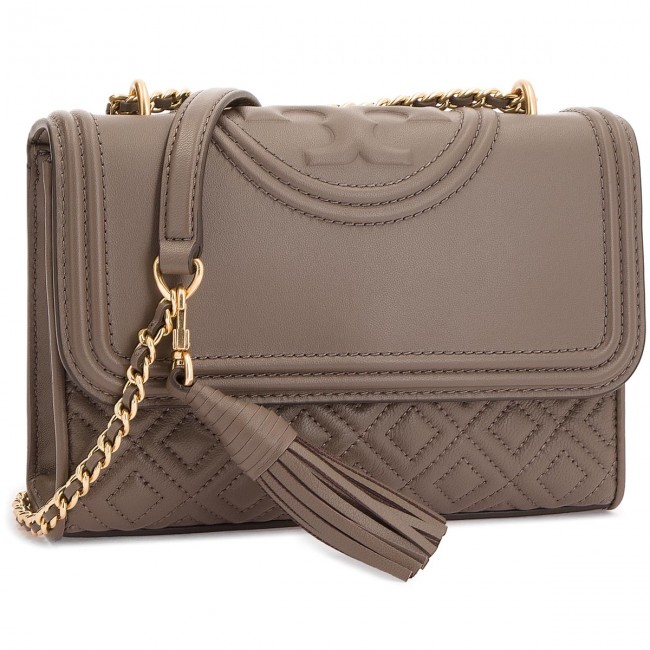 5181e4b297cc6 Handbag TORY BURCH - Small Convertible Shoulder Bag 43834 Silver Maple 963