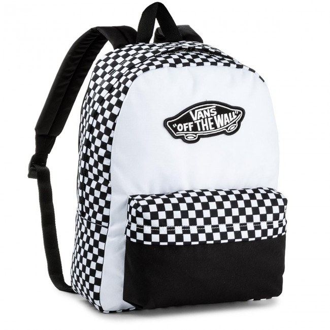 3ef1752e69b Backpack VANS - Realm Backpack V000NZ056M Black/White - Sports bags ...