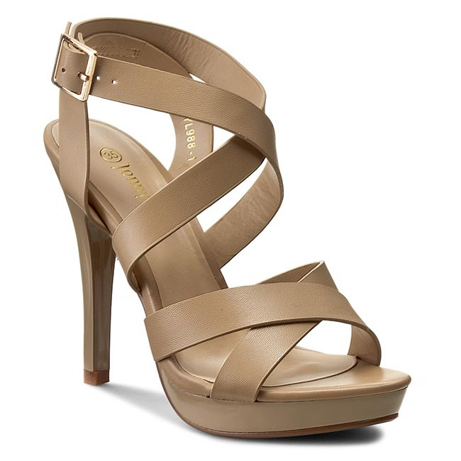 85740b48db Sandals JENNY FAIRY - WYL988-1 Beige - Elegant sandals - Sandals ...
