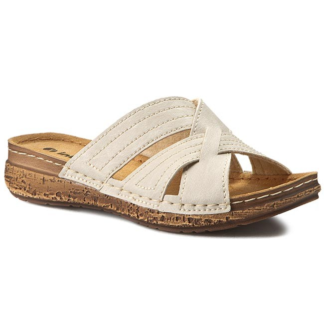Slides INBLU  TW206J33  Beige  Casual mules  Mules  Mules and sandals  Womens shoes       2220369160001