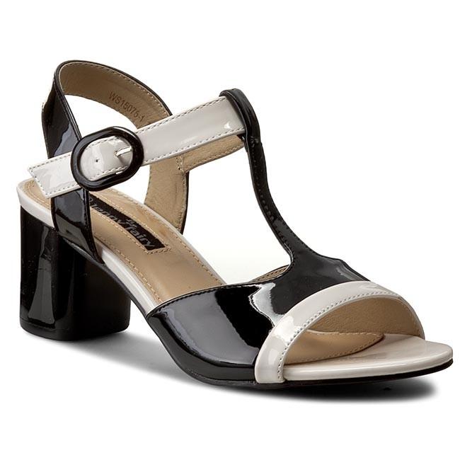 Sandalen NESSI - 24101 Beż/Czarny 34 YyFJyix5Po