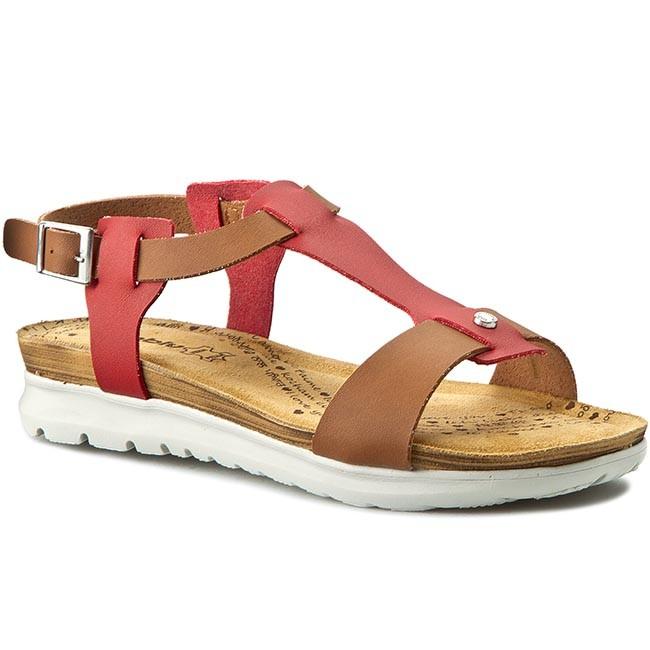 b4f7debfb33a2 Sandals INBLU - TU85ET11 Czerwony/Camel - Casual sandals - Sandals ...