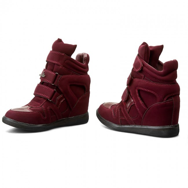 1 Sneakers Red Low Shoes Fairy Ws1628 Jenny Dark y7bf6gYv