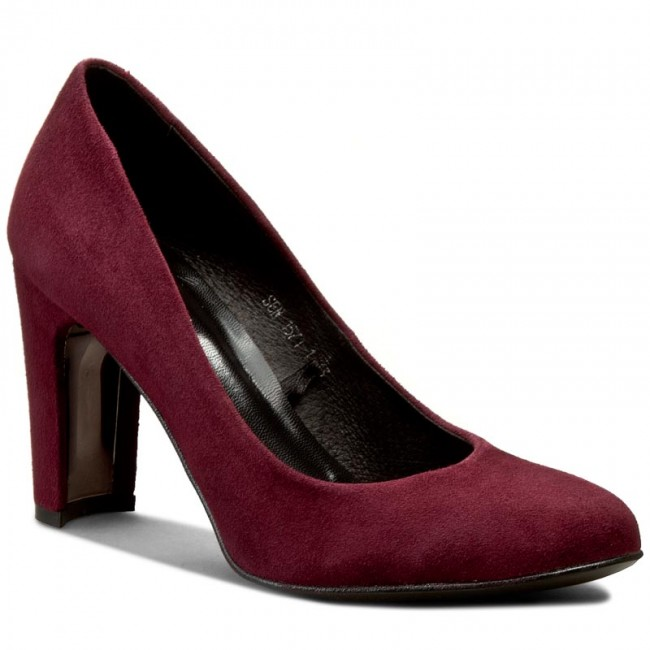 Shoes QUAZI - 1571-1 Dark Red - Heels - Low shoes - Women's shoes ...