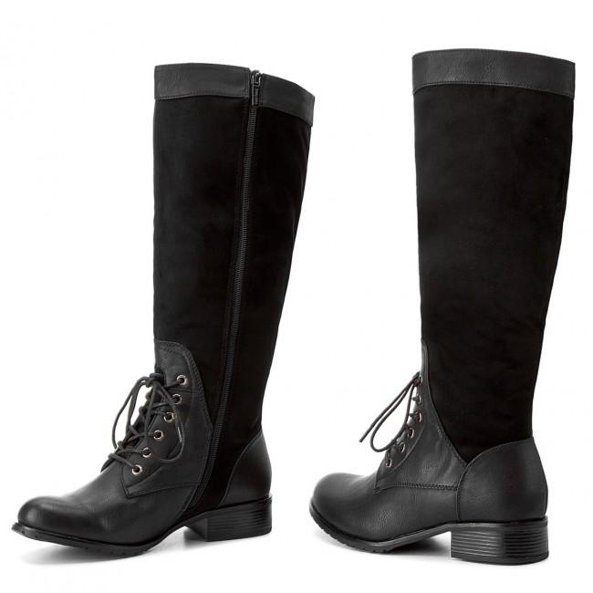Black Knee Boots High Jackboots 11A JENNY FAIRY High WS1216 qfxzf6RY