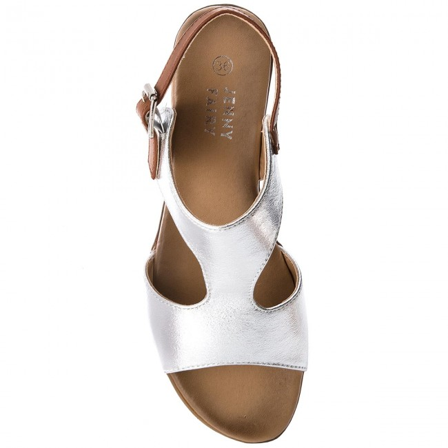 78a6a1763b5 Sandals JENNY FAIRY - WS17200-1 Srebrny - Casual sandals - Sandals - Mules  and sandals - Women s shoes - www.efootwear.eu
